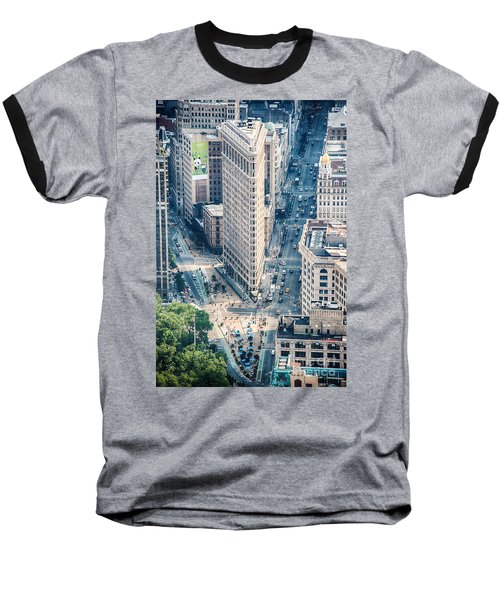 Flat Iron Building Baseball T-Shirt
