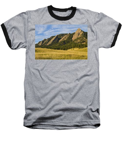 Flatiron Morning Light Boulder Colorado Baseball T-Shirt
