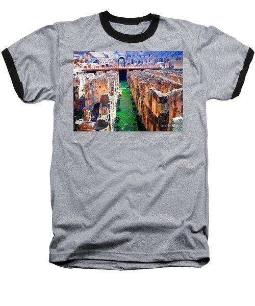 Flavian Amphitheatre Baseball T-Shirt