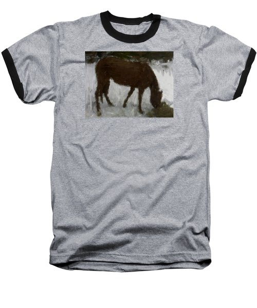 Baseball T-Shirt featuring the painting Flicka by Bruce Nutting