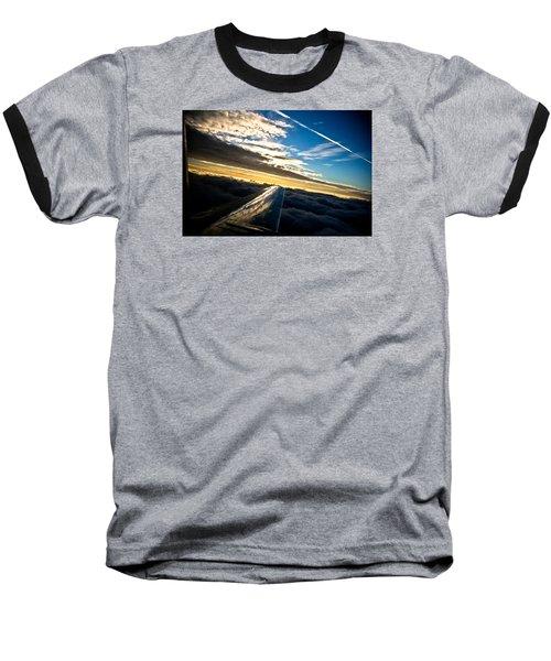 Flight 777 Baseball T-Shirt by Joel Loftus