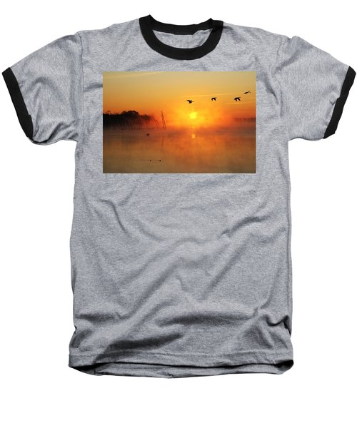 Flight At Sunrise Baseball T-Shirt