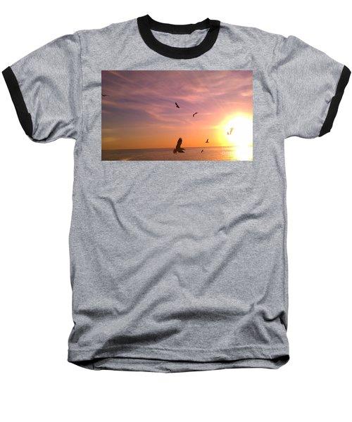 Flight Into The Light Baseball T-Shirt by Chris Tarpening