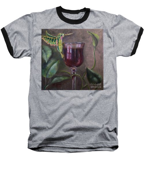 Baseball T-Shirt featuring the painting Flight Of Fancy by Marlene Book