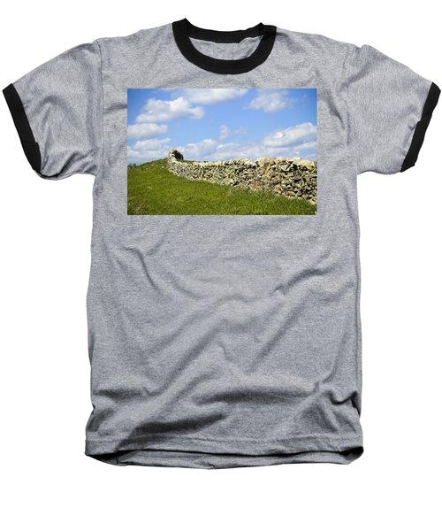 Baseball T-Shirt featuring the photograph Flint Hills Rock Fence by Steven Bateson
