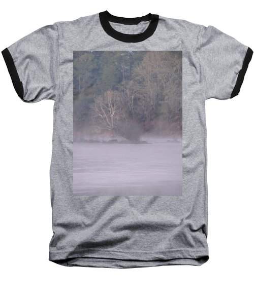 Baseball T-Shirt featuring the pyrography Flint River 10 by Kim Pate