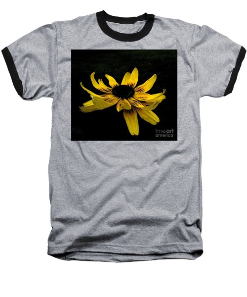 Baseball T-Shirt featuring the photograph  Black Eyed Susan Suspense by Ecinja