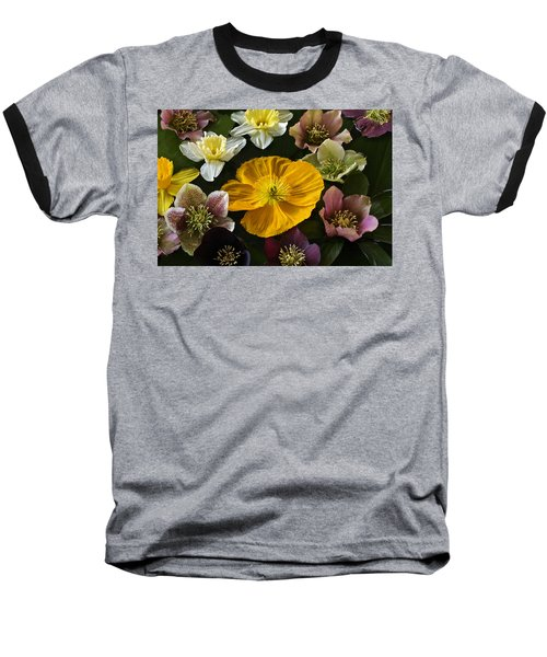 Floating Bouquet Of Early April Flowers Baseball T-Shirt
