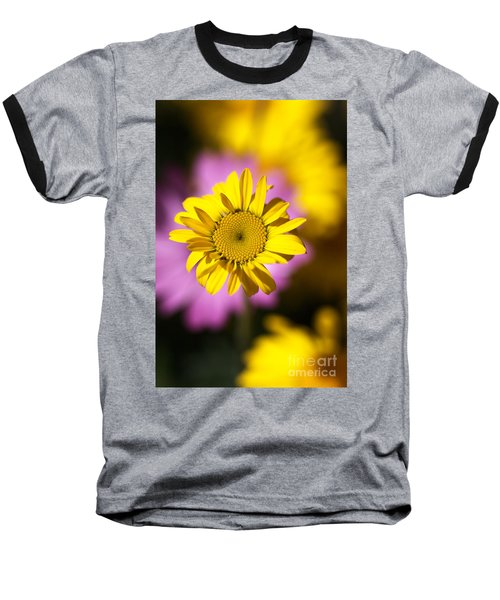 Baseball T-Shirt featuring the photograph Floating Daisy by Joy Watson
