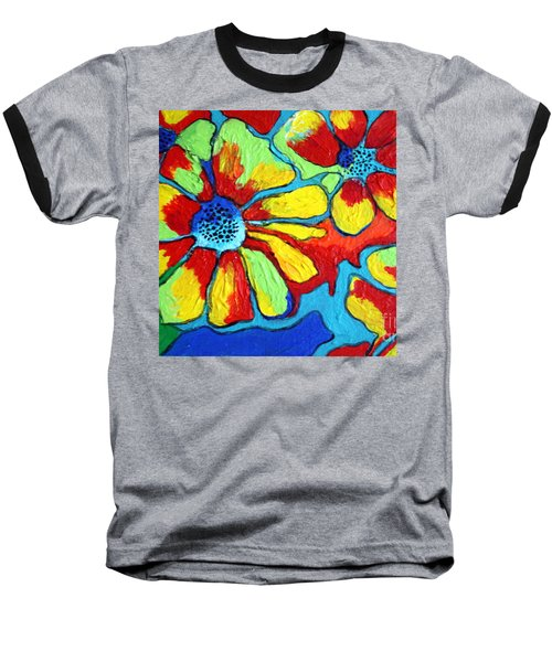 Floating Flowers Baseball T-Shirt by Alison Caltrider