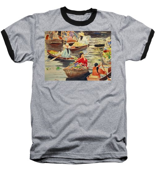 Floating Market Baseball T-Shirt