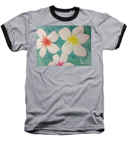 Floating Plumeria Baseball T-Shirt