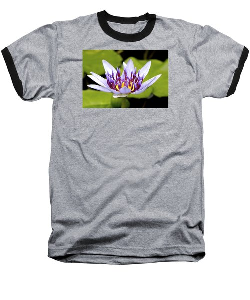 Baseball T-Shirt featuring the photograph Floating Purple Waterlily by Lehua Pekelo-Stearns