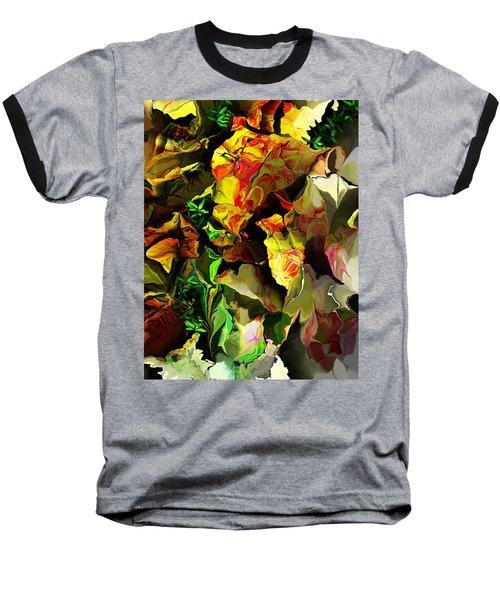 Baseball T-Shirt featuring the digital art Floral 082114 by David Lane