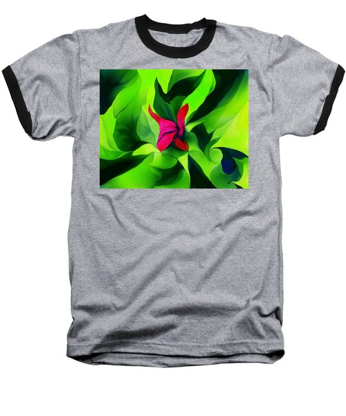 Baseball T-Shirt featuring the digital art Floral Abstract Play by David Lane