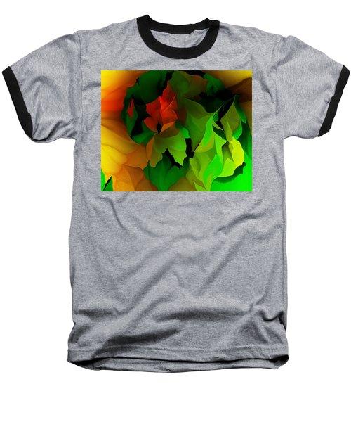 Baseball T-Shirt featuring the digital art Floral Abstraction 090814 by David Lane