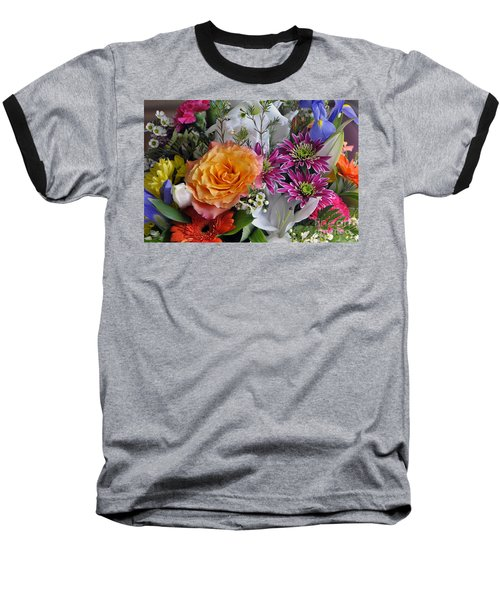 Floral Bouquet 6 Baseball T-Shirt