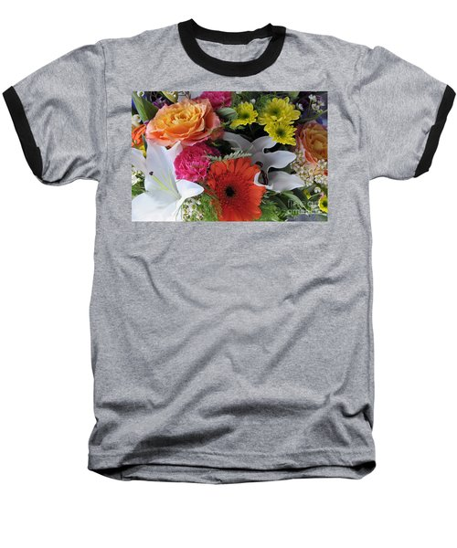 Floral Bouquet 7 Baseball T-Shirt