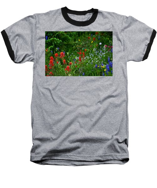 Floral Explosion Baseball T-Shirt