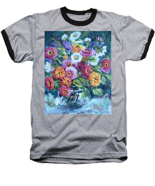 Floral Explosion No. 2 Baseball T-Shirt
