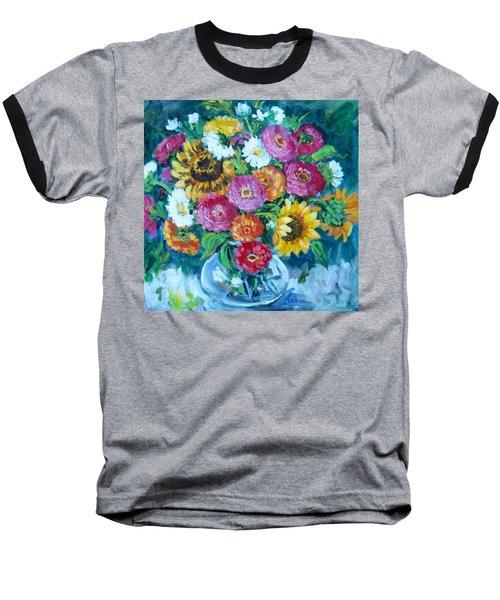 Floral Explosion No.1 Baseball T-Shirt