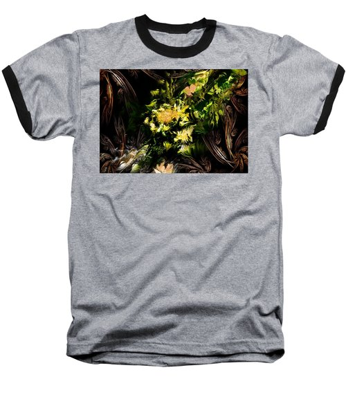 Baseball T-Shirt featuring the digital art Floral Expression 020215 by David Lane