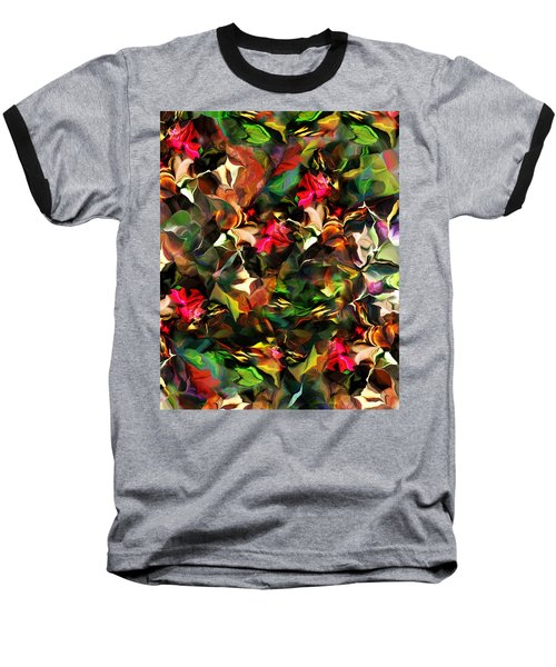 Baseball T-Shirt featuring the digital art Floral Expression 121914 by David Lane