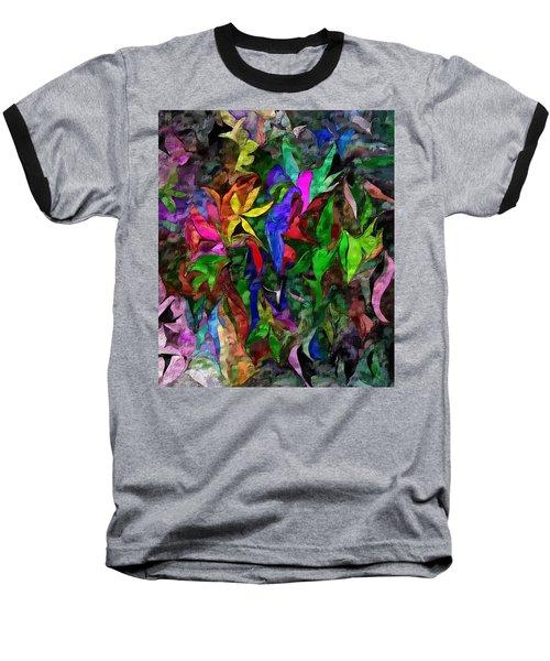 Baseball T-Shirt featuring the digital art Floral Fantasy 012015 by David Lane