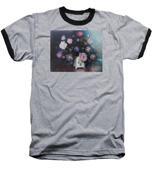 Floral Still Life Baseball T-Shirt