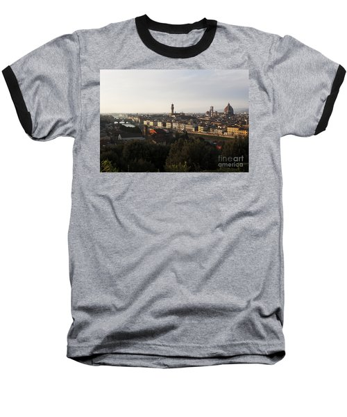 Baseball T-Shirt featuring the photograph Florence Form The Piazza Michalengelo by Belinda Greb