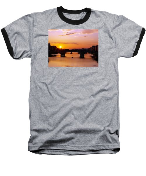 Baseball T-Shirt featuring the photograph Florence Sunset  by Haleh Mahbod