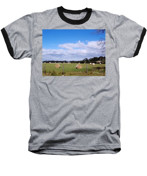 Baseball T-Shirt featuring the photograph Florida Hay Rolls by D Hackett