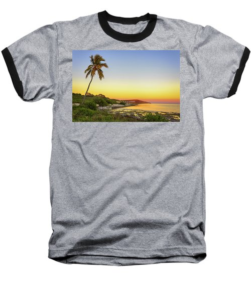 Florida Keys Sunset Baseball T-Shirt by Swank Photography