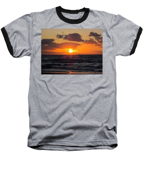 Florida Sunrise Baseball T-Shirt by MTBobbins Photography