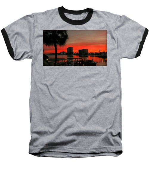 Baseball T-Shirt featuring the photograph Florida Sunset by Hanny Heim