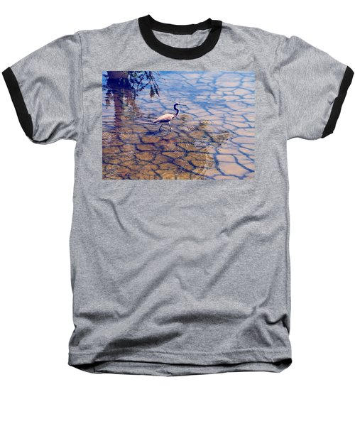 Florida Wetlands Wading Heron Baseball T-Shirt
