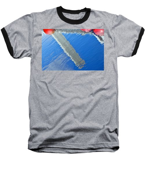 Floridian Abstract Baseball T-Shirt by Keith Armstrong
