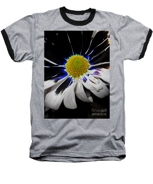 Art. White-black-yellow Flower 2c10  Baseball T-Shirt