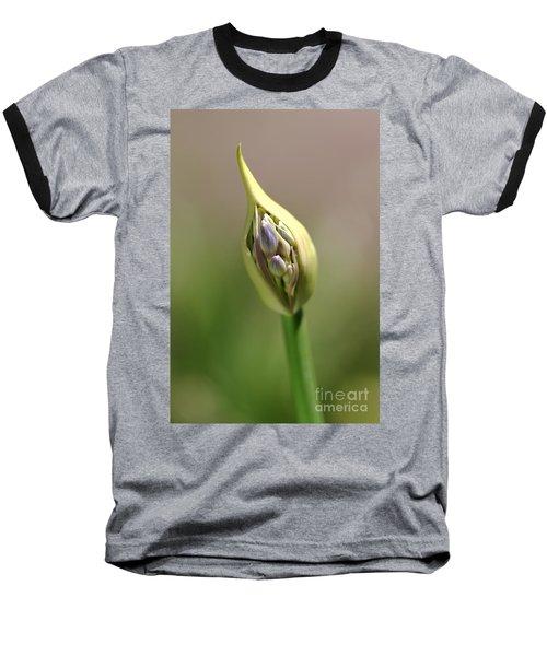 Flower-agapanthus-bud Baseball T-Shirt