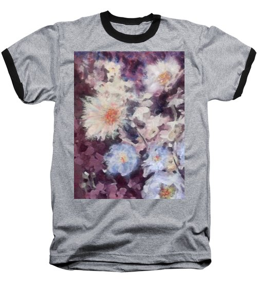 Flower  Burst Baseball T-Shirt