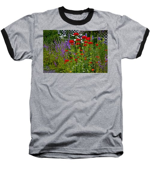 Baseball T-Shirt featuring the photograph Flower Garden by Johanna Bruwer