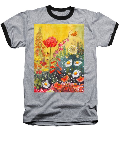 Flower Garden Baseball T-Shirt