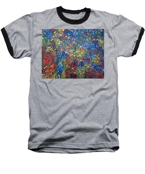 Flower Garden Baseball T-Shirt