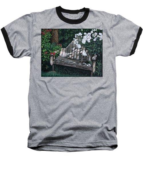 Flower Garden Seat Baseball T-Shirt