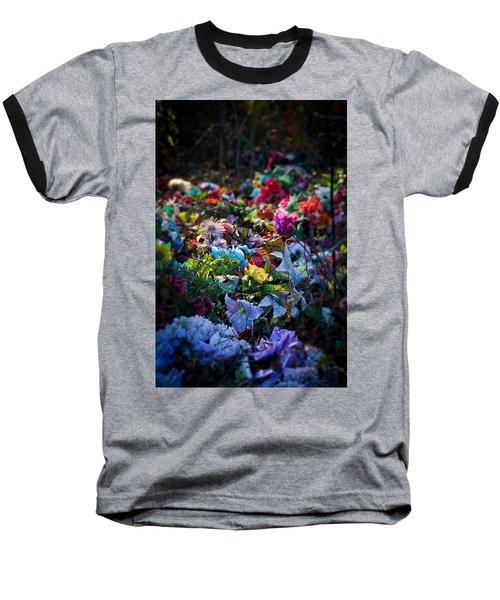 Flower Graveyard Baseball T-Shirt