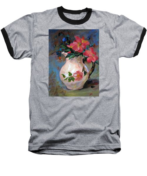 Flower In Vase Baseball T-Shirt by Jieming Wang