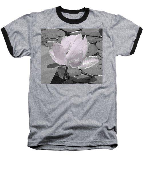 Flower Lilly Pad Baseball T-Shirt by Steve Archbold