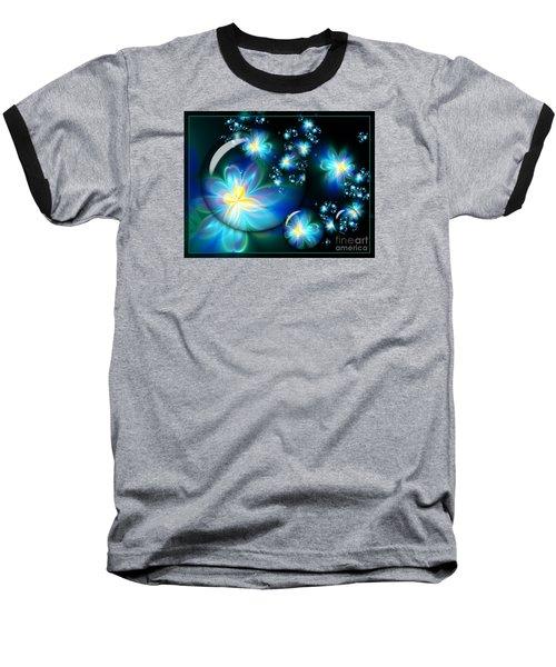 Flower Marble Fractal Baseball T-Shirt