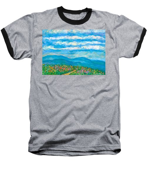 Flower Path To The Blue Ridge Baseball T-Shirt by Kendall Kessler