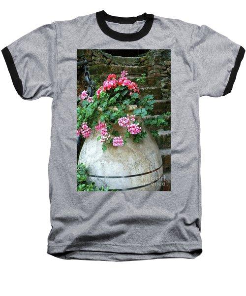 Baseball T-Shirt featuring the photograph Flower Pot 8 by Allen Beatty